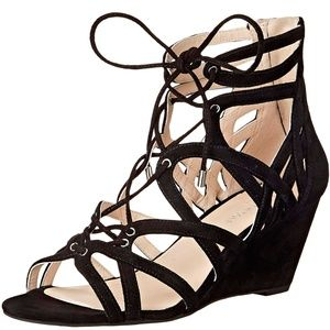 Kenneth Cole New York Womens Dylan Lace-Up Wedge